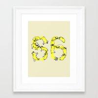 pugs Framed Art Prints featuring Pugs Prank by Huebucket