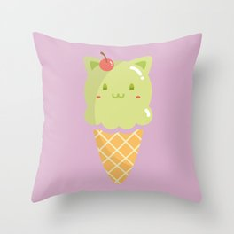 Pistachio Ice-cream Throw Pillow