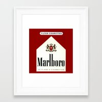 cigarettes Framed Art Prints featuring cigarettes by Azrai Danial