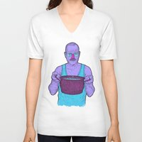 cook V-neck T-shirts featuring Cook (fiolet) by Lime