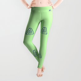 Penrose Triangle Pattern 1 Leggings