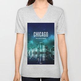 Chicago Wallpaper Unisex V-Neck