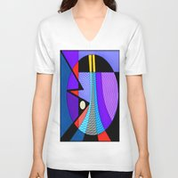 romance V-neck T-shirts featuring Romance by Kristine Rae Hanning