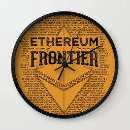 Ethereum Frontier (black on orange) Wall Clock
