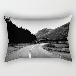 Road through the Glen - B/W Rectangular Pillow