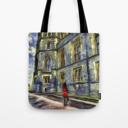 Windsor Castle Coldstream Guard Art Tote Bag