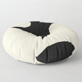 Black Bird Floor Pillow