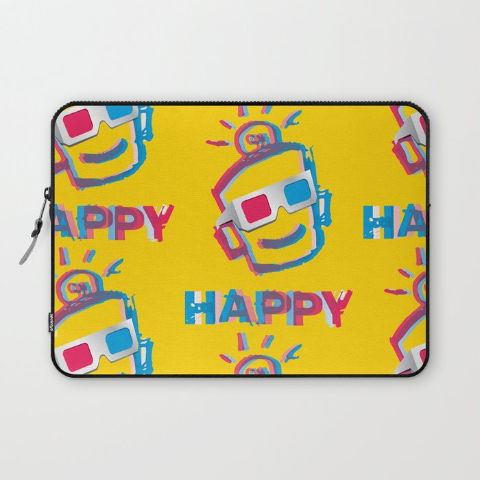 3D HAPPY Laptop Sleeve