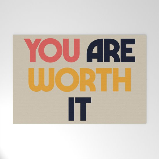 You are worth it, positive thinking, good vibes, fight depression quotes by stefanoreves