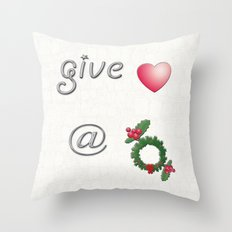 Give Love At Christmas Throw Pillow