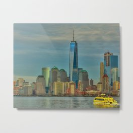 1 World Trade Center from NY Harbor Metal Print