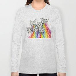 Kittens Puking Rainbows Long Sleeve T-shirt