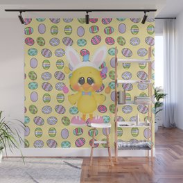 Easter Chick with Bunny Ears Wall Mural