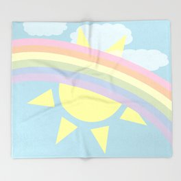Pastel Rainbow Throw Blanket