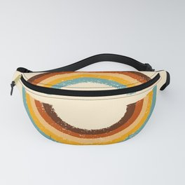 Retro Double Rainbow Fanny Pack