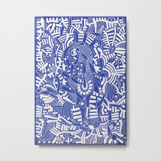- captain lost in blue - Metal Print