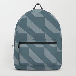 Simple Geometric Pattern 4 in Teal Backpack
