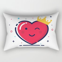 Heart with crown Rectangular Pillow
