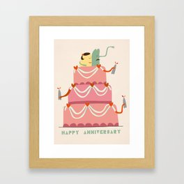 Happy Anniversary Framed Art Print