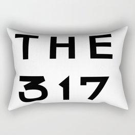 317 Indiana Area Code Typography Rectangular Pillow