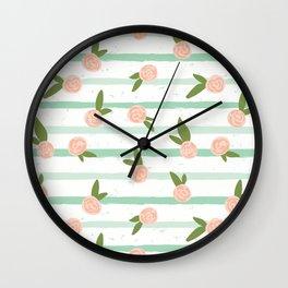 Tiny Roses Wall Clock