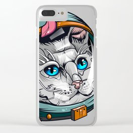 Spacecat Clear iPhone Case
