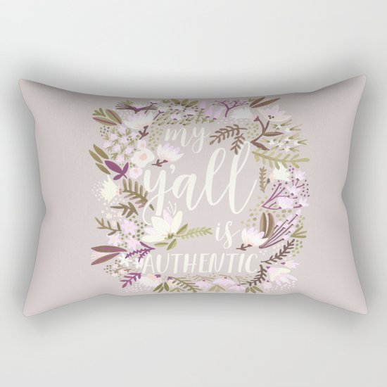 My Y'all is Authentic – Spring Palette Rectangular Pillow