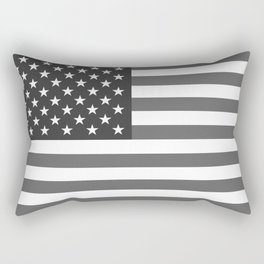 Black and White US Flag, High Quality Image Rectangular Pillow