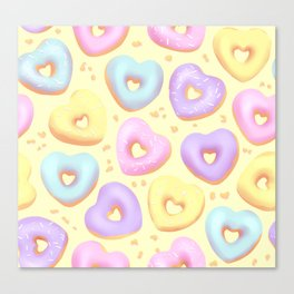 I Heart Donuts Canvas Print