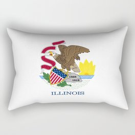 Illinois State flag Rectangular Pillow