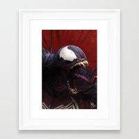 venom Framed Art Prints featuring Venom by MATT DEMINO
