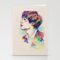 shinee Stationery Cards featuring Colorful SHINee Taemin  by sophillustration