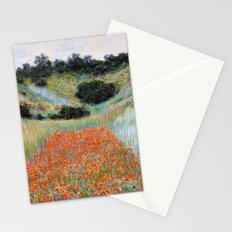 Poppy Field in a Hollow near Giverny by Claude Monet Stationery Cards
