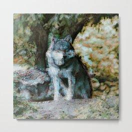 Abstract Animal - Wolf Metal Print