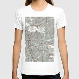 Sacramento California Map (1992) T-shirt