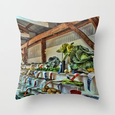 The good ole country fair Throw Pillow