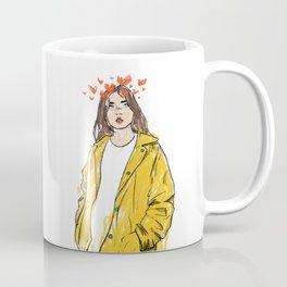 Yellow Girl In Love Coffee Mug