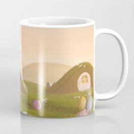 II - Easter bunny with a basket and Easter eggs Coffee Mug