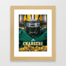 Edison Chargers Football Framed Art Print