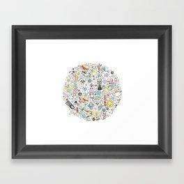 Ghibli Love Circle Framed Art Print