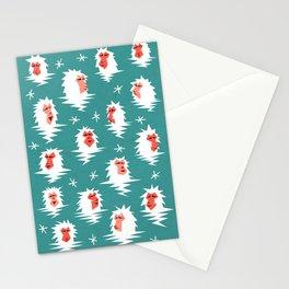 Bathing Japanese snow monkeys Stationery Cards