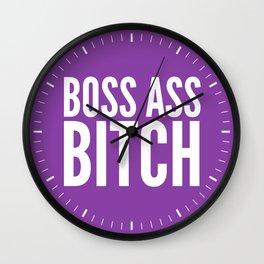 BOSS ASS BITCH (Purple) Wall Clock
