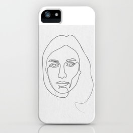 lines of her iPhone Case