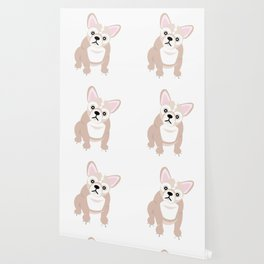 French Bulldog Puppies Pink Wallpaper