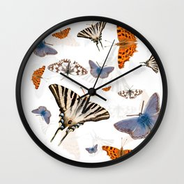 Colorful butterflies of europe Wall Clock