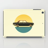 mercedes iPad Cases featuring Mercedes 200 at Sunset by chucklehound
