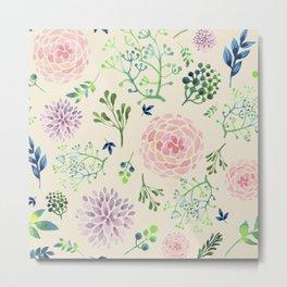 Pastels x Blossoms Metal Print
