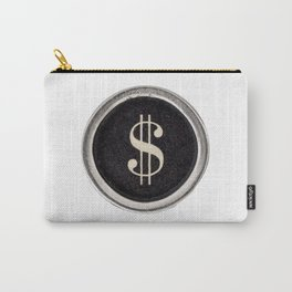 Vintage Dollar Sign Carry-All Pouch