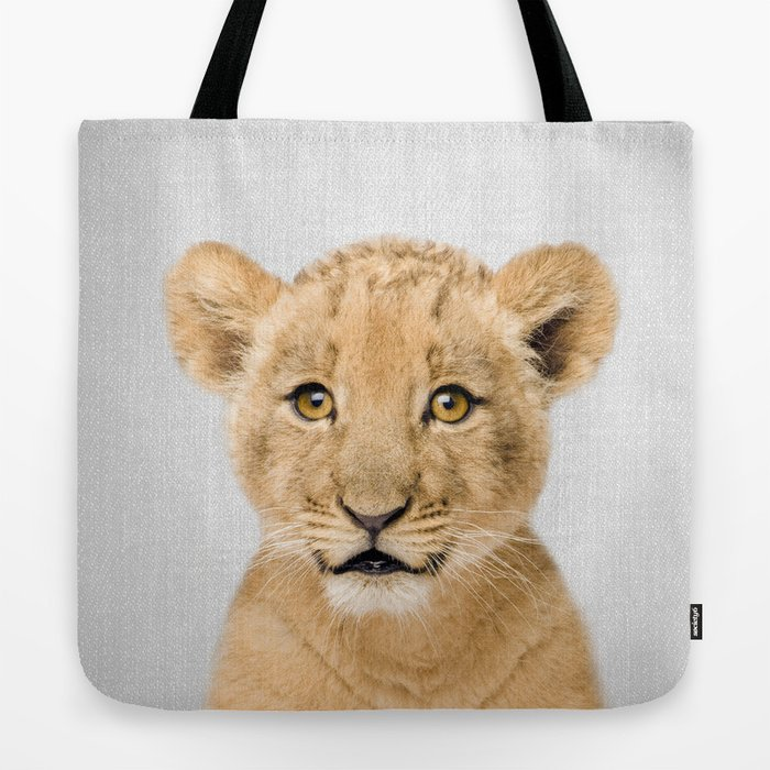 Baby Lion - Colorful Tote Bag
