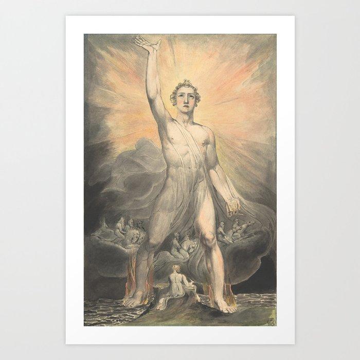 The Angel Wall Art Poster Print William Blake
